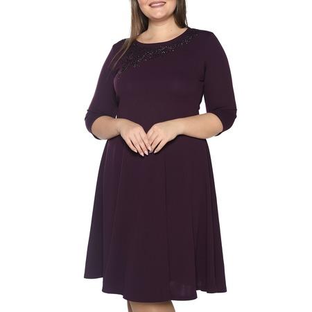 Купить Платье Blagof «Сияние сердца» с мерцающим декором. Цвет: фиолетовый
