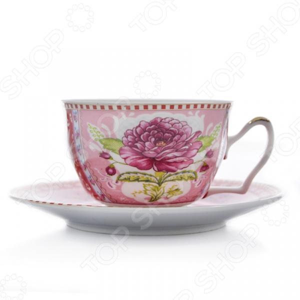 Чайная пара Loraine LR-24583 «Цветок»