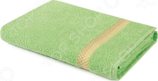 Полотенце махровое Aquarelle «Глициния». Цвет: светло-зеленый