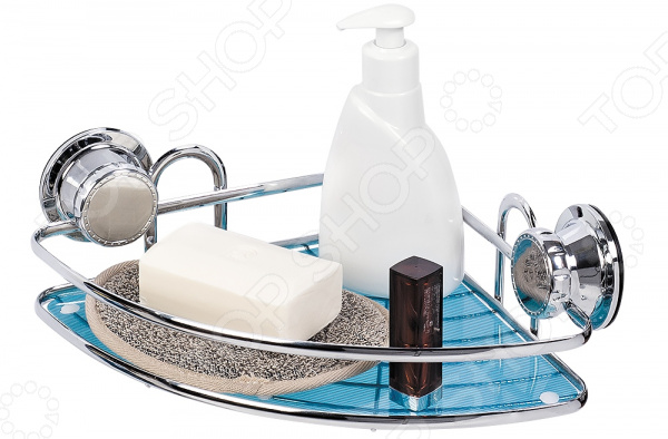 Полка для ванной угловая Tatkraft Vacuum Screw Kaiser крючок двойной tatkraft mega lock на вакуумном шурупе