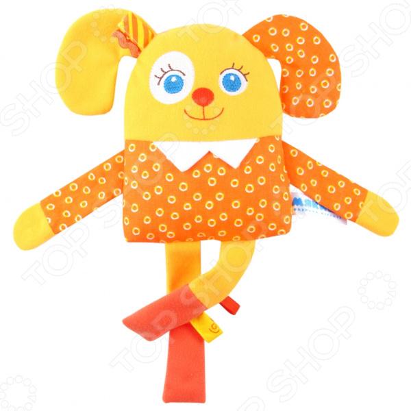 Игрушка-погремушка Мякиши «Мой Щенок» игрушка погремушка мякиши медвежонок колечко