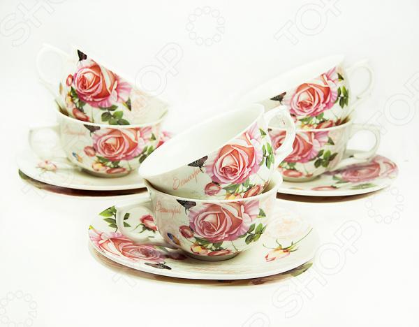 Кофейный набор «Чайная роза»