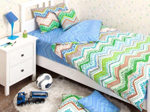 где купить  Детский комплект постельного белья Хлопковый Край Zigzag green  по лучшей цене