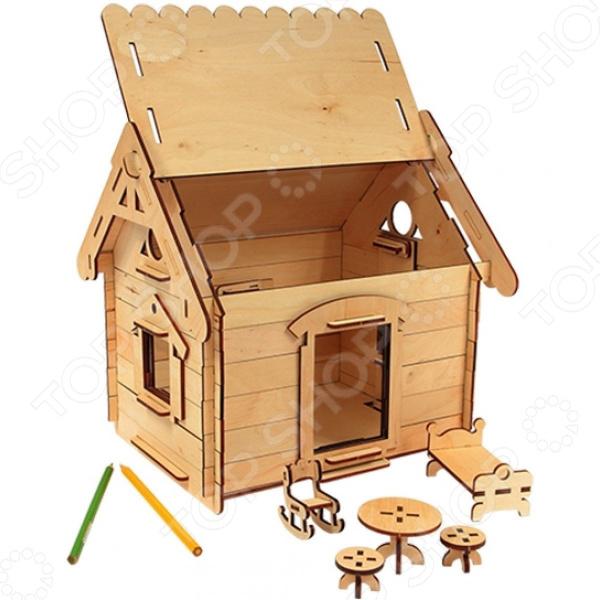 Игрушка-конструктор WOODY «Мой дом» конструктор деревянный лесовичок разборный домик 7