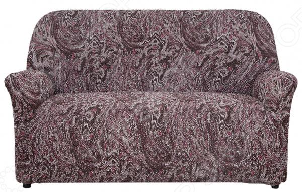 Натяжной чехол на двухместный диван Еврочехол «Виста. Брауни»