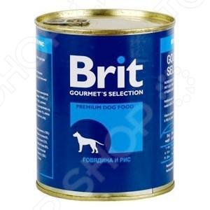 Корм консервированный для собак Brit «Говядина и рис»