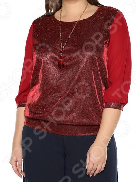 Блуза Blagof «Блестящий стиль». Цвет: бордовый блуза blagof блуза мерси цвет персиковый