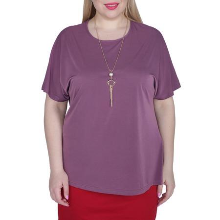 Купить Блуза La Reina style «Простые линии». Цвет: сливовый