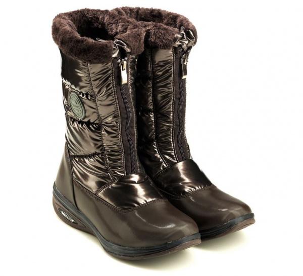 Дутики снежные Walkmaxx. Цвет: коричневый