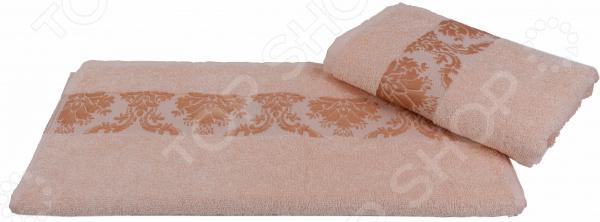 Полотенце махровое Hobby Home Collection Ruzanna. Цвет: персиковый
