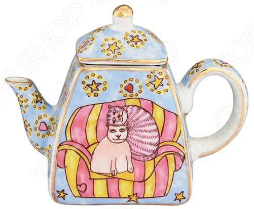 Чайник сувенирный Elan Gallery «Коты на кресле» Elan Gallery - артикул: 967587