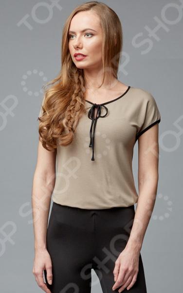 Блуза Milliner 1726108. Цвет: табачный