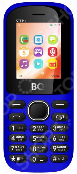 Ищете простой и удобный телефон исключительно для общения Модель мобильного телефона BQ Степ создана специально для вас. При этом устройство поддерживает две Sim-карты, что очень удобно для тех, кому необходимо использовать два разных номера. Оцените другие преимущества Степ :  Компактный размер и легкий вес всего 66 грамм.  Встроенный FM-приемник для прослушивания любимых радиостанций.  Воспроизведение музыкальных файлов.  Объем памяти для хранения файлов может быть расширен за счет приобретения карт microSD.  Протокол беспроводной передачи данных Bluetooth. Модель телефона BQ Степ представлена в нескольких цветовых решениях. Выберите тот вариант, который больше всего подходит вашему стилю.