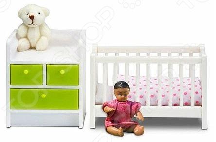 Мебель для куклы Lundby «Кровать с пеленальным комодом» кукольные домики и мебель lundby кукольная мебель кровать с пеленальным комодом