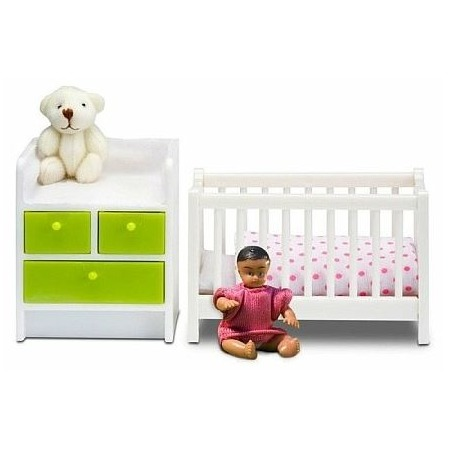 Купить Мебель для куклы Lundby «Кровать с пеленальным комодом»