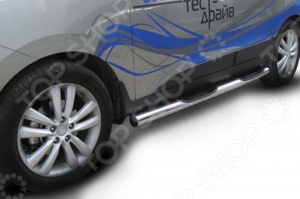 Защита штатных порогов Arbori с проступями для Hyundai ix35, 2009 диагностический комплекс ix35