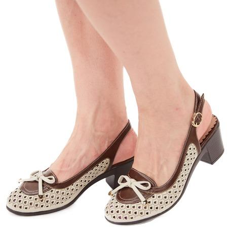 Купить Туфли EGO «Элегия». Цвет: бежевый
