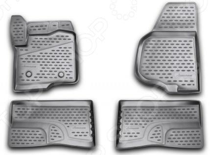 Комплект 3D ковриков в салон автомобиля Novline-Autofamily Ford F250 / F350 Super Crew 2009-2013 комплект ковриков в салон автомобиля novline autofamily ford mondeo 2000 2007