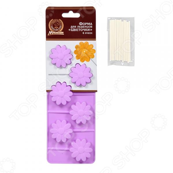 Форма для леденцов Marmiton «Цветочки» 16194 формы для приготовления леденцов на палочке