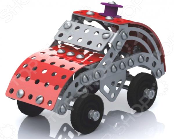 Конструктор металлический Десятое королевство «Машинка с подвижными деталями»