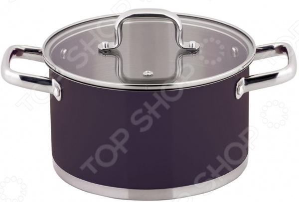 Кастрюля с крышкой Esprado Uva Norte кастрюля esprado uva norte с крышкой цвет фиолетовый 2 3 л
