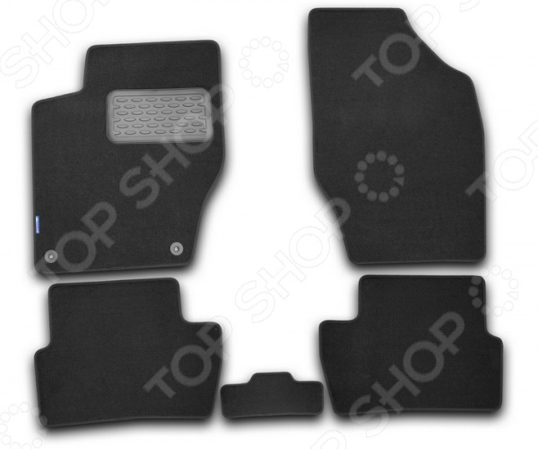 Комплект ковриков в салон автомобиля Novline-Autofamily Hyundai i30 2012. Цвет: черный