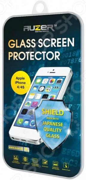 Стекло защитное Auzer AG-SAI 4 для Apple Iphone 4/4S