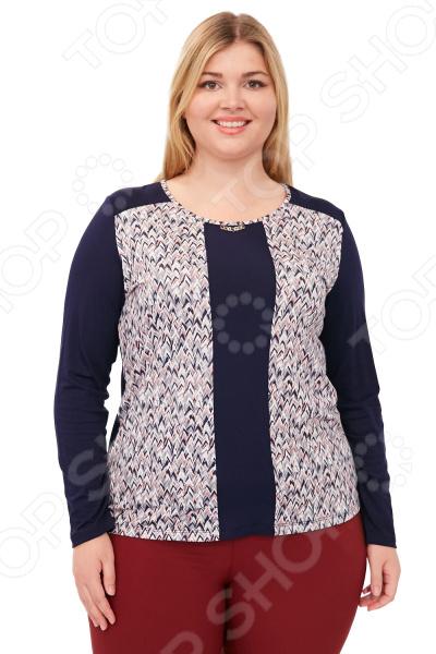 Блуза VAY «Брызги шампанского». Цвет: синий, белый блуза vay vay mp002xw1hff7