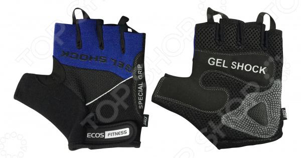 Перчатки для фитнеса Ecos 2117 Перчатки для фитнеса Ecos 2117-BL /Синий/Черный