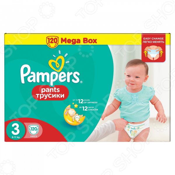 �������-���������� Pampers Pants 6-11 ��, ������ 3, 120 ��.