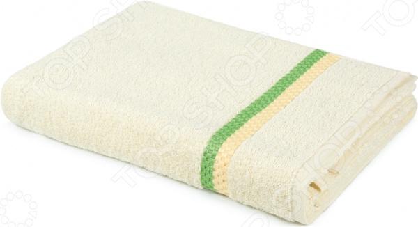 Полотенце махровое Aquarelle «Глициния». Цвет: ванильный