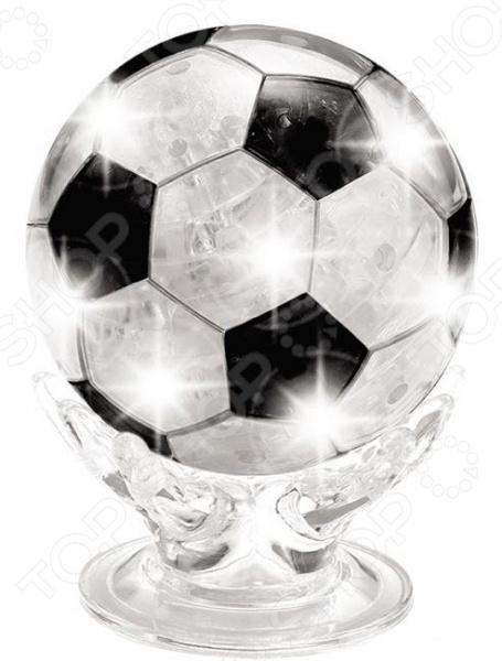 ФОТО Кристальный пазл 3d educational line «Футбольный мяч» с подсветкой. В ассортименте