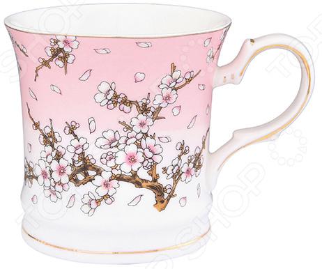 Кружка Elan Gallery «Сакура на розовом»