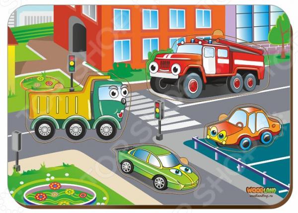 Игра развивающая WoodLand «Рамка-вкладыш: Машинки»