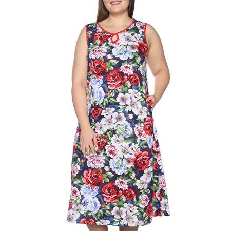 Купить Платье Алтекс «Солнечное тепло». Цвет: темно-синий