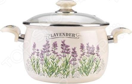 Кастрюля эмалированная LAUREL Lavender