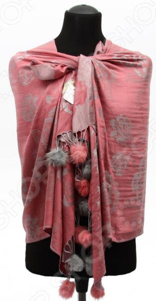 Палантин Bona Ventura P-JRM «Розы с мехом» палантин bona ventura p h pr3 6