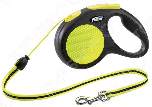 Поводок-рулетка Flexi Neon New Classic. Тип поводка: трос