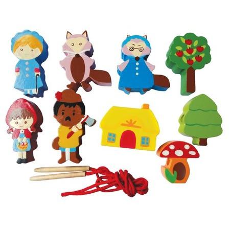 Купить Игра развивающая для малыша Mapacha «Шнуровка - бусы. Красная шапочка»