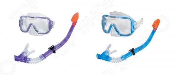 Набор для плавания: маска и трубка Intex «Бегущий по волнам» intex маска для плавания бегемот лягушка intex в ассорт