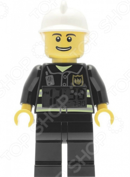 Фигурка-будильник LEGO City Fireman new lepin 02052 1029pcs city fire station building block fireman compatible 60110 brick toy boy gift educational diy