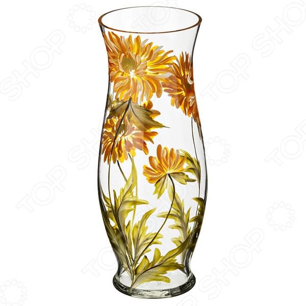 Ваза декоративная «Хризантема желтая» 354-1097 купить вазы пластик для искусственных цветов