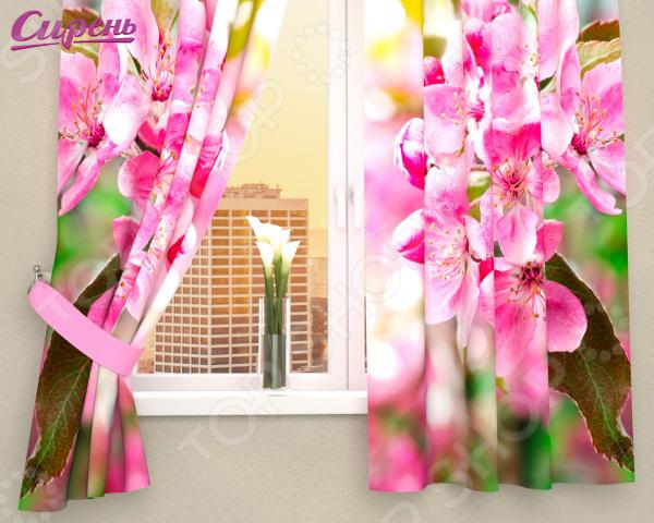 Фотошторы Сирень «Розовая яблонька»