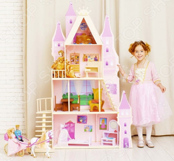 Домик кукольный PAREMO «Розовый сапфир» игра paremo кукольный дворец розовый сапфир pd316 05