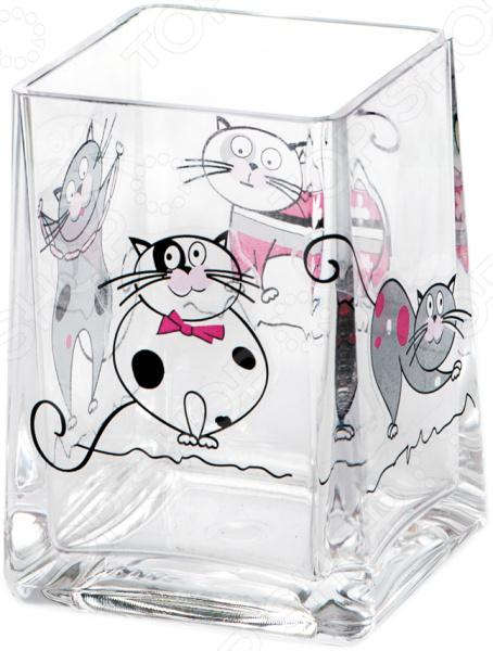 Стакан для ванной Tatkraft Acryl Funny Cats стакан для зубных щеток tatkraft funny cats