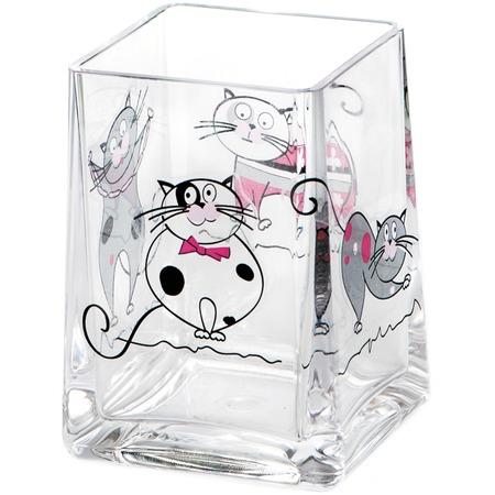 Купить Стакан для ванной Tatkraft Acryl Funny Cats