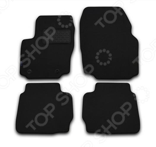 Комплект ковриков в салон автомобиля Novline-Autofamily Volkswagen Passat Variant B7 2011 универсал. Цвет: черный