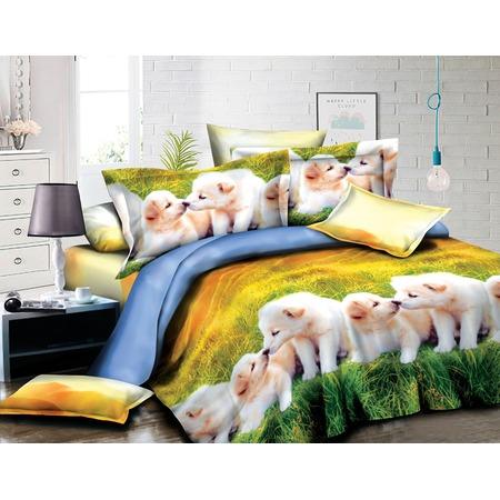 Купить Комплект постельного белья «Милые щенки»