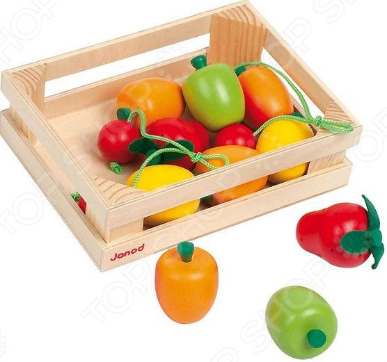 Игровой набор для ребенка Janod «Фрукты в ящике»