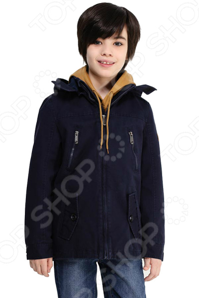 Куртка детская Finn Flare Kids KB17-81006J. Цвет: темно-синий